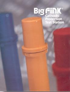 Cott Big Fink Test Station – Post Mount, 5 Terminals, Color Orange