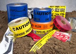 "Underground Warning Tape – Cathodic Protect – Red – 6"" x 1000′"